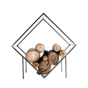 Diamond Wood Log Holder